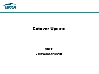 Cutover Update