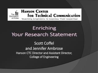 Enriching Your Research Statement