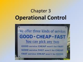 Chapter 3 Operational Control