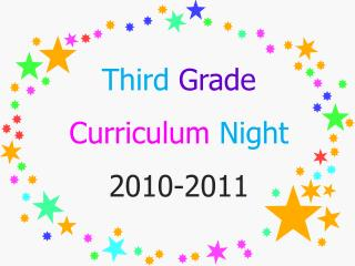 Third Grade Curriculum  Night 2010-2011