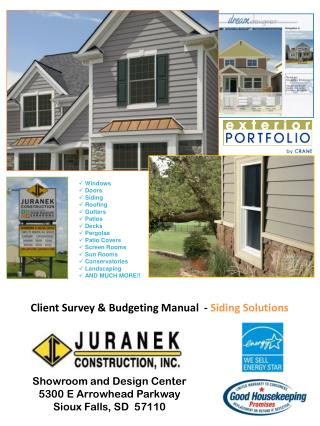 Client Survey & Budgeting Manual  -  Siding Solutions