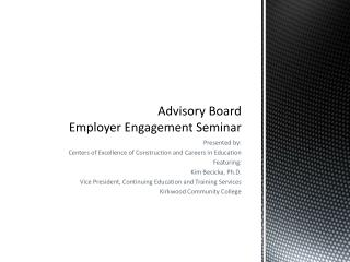 Advisory Board Employer Engagement Seminar