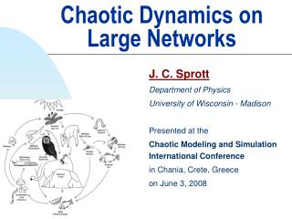Chaotic Dynamics on Large Networks