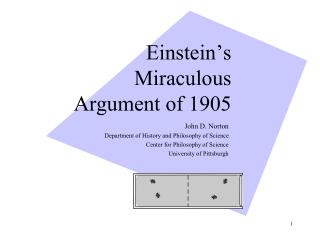Einstein's Miraculous Argument of 1905