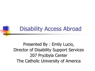 Disability Access Abroad