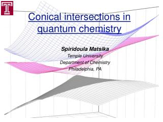 Conical intersections in quantum chemistry
