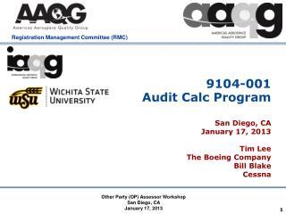 9104-001  Audit Calc Program
