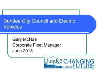 Dundee City Council and Electric Vehicles