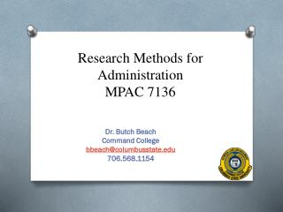 Research Methods for Administration MPAC 7136