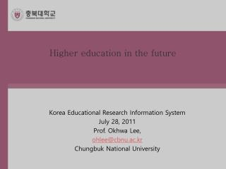 Higher education in the future