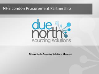 Richard Leslie Sourcing Solutions Manager