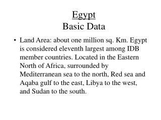 Egypt Basic Data