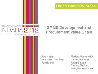 Plenary Panel Discussion 5