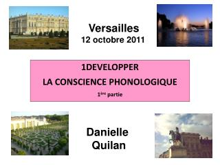 1 DEVELOPPER  LA CONSCIENCE PHONOLOGIQUE 1 ère  partie
