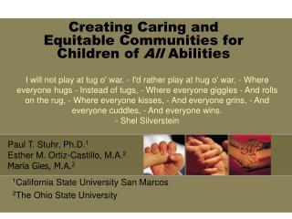 Creating Caring and  Equitable Communities for Children of  All  Abilities