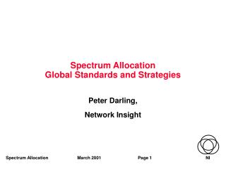 Spectrum Allocation Global Standards and Strategies
