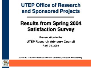 UTEP Office of Research  and Sponsored Projects