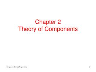 Chapter 2  Theory of Components