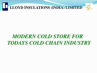 LLOYD INSULATIONS (INDIA) LIMITED