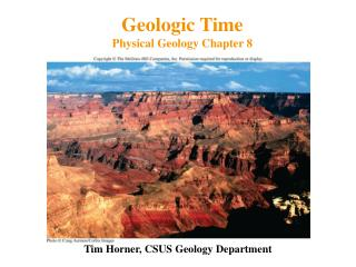 Geologic Time Physical Geology Chapter 8