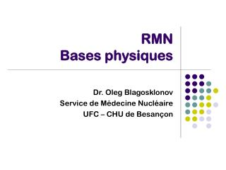 RMN Bases physiques