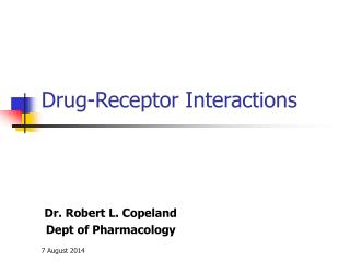 Drug-Receptor Interactions