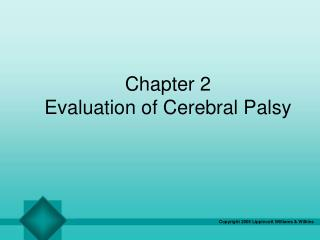 Chapter 2 Evaluation of Cerebral Palsy