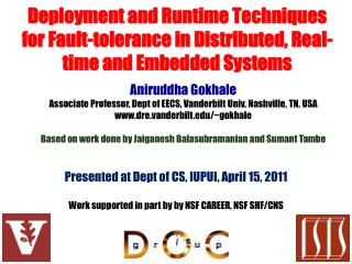 Presented at Dept of CS, IUPUI, April 15, 2011
