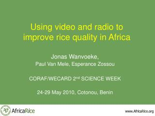 Using video and radio to improve rice quality in Africa