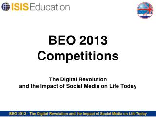 BEO 2013 Competitions