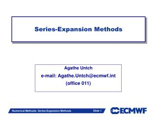 Series-Expansion Methods