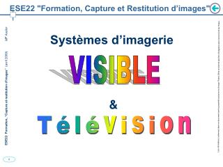 "ESE22 ""Formation, Capture et Restitution d'images"""
