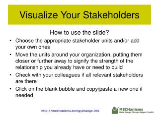 Visualize Your Stakeholders