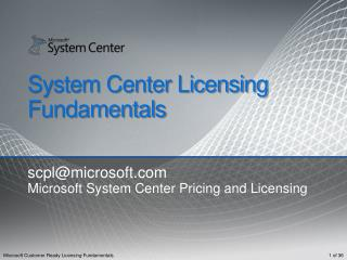 System Center Licensing Fundamentals