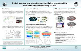 Global warming and abrupt ocean circulation changes at the Paleocene/Eocene boundary (55 Ma)