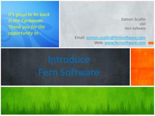 Introduce Fern Software