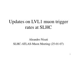 Updates on LVL1 muon trigger rates at SLHC