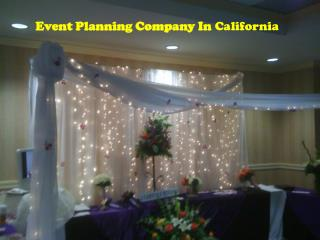 Event Planning Company In California