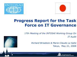 Progress Report for the Task Force on IT Governance