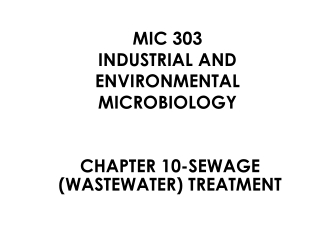 Design of Biological Nutrient Removal Processes