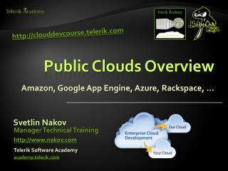 Public Clouds Overview