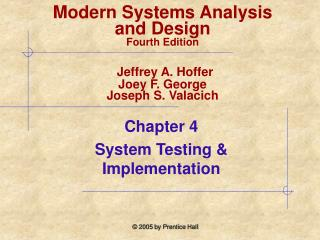 Chapter 4  System Testing & Implementation