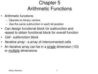 Chapter 5 Arithmetic Functions
