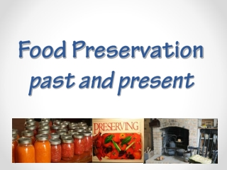 Food preservation through freezing