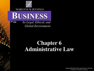 Chapter 6  Administrative Law