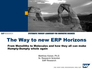 The Way to new ERP Horizons