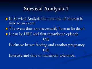 Survival Analysis-1