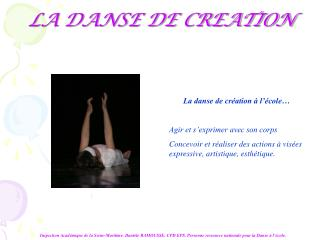LA DANSE DE CREATION