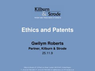 Ethics and Patents
