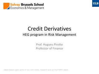 Credit Derivatives HEG program in Risk Management
